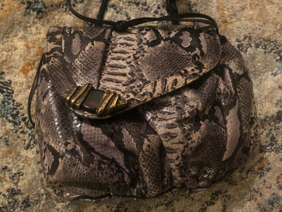 1980s Faux Snakeskin Purse