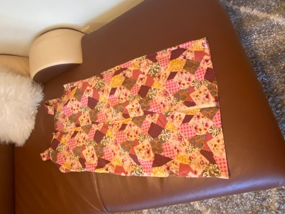 1960s to 1970s Pink Patchwork Summer Dress Size L… - image 7
