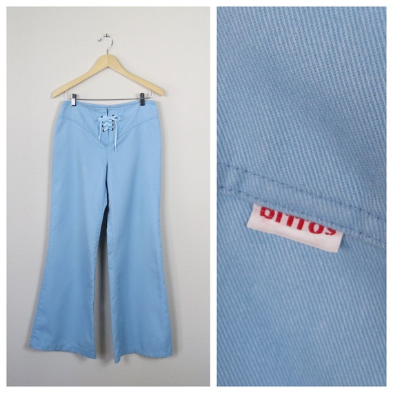 vintage 1970s Dittos bell bottoms pants rare lace