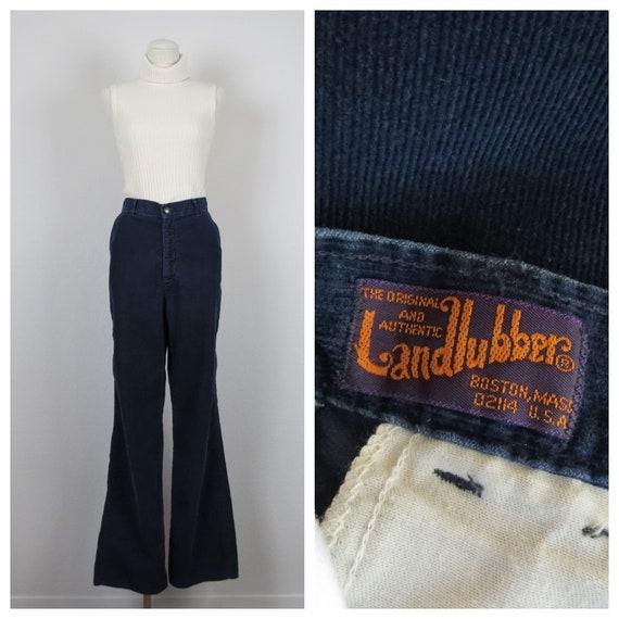 vintage 1970s Landlubber corduroy high waist pants