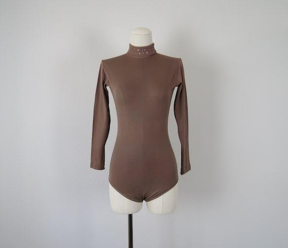size xxs - xs vintage 1960s bejeweled body suit le