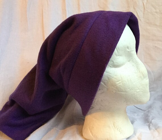 Purple Fleece Stocking Hat