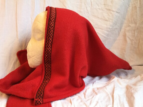 Red Woodland Elf Fleece Scoodie