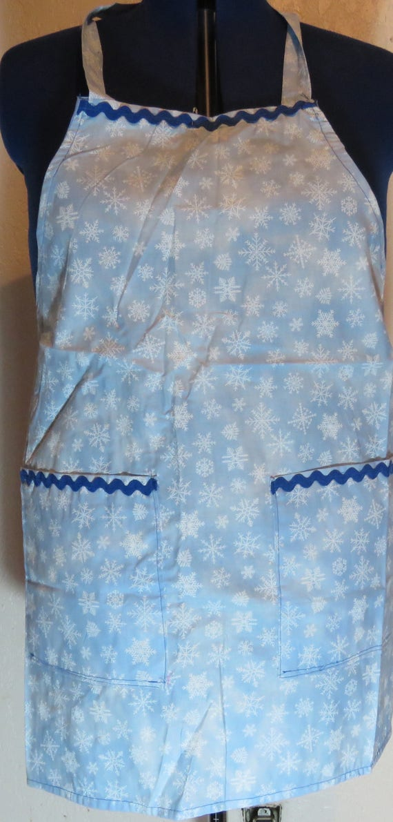 Winter Frozen Let it Snow Snowflake Full Apron