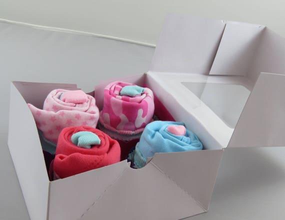 Girl's Onesie Cupcakes Baby Shower Gift
