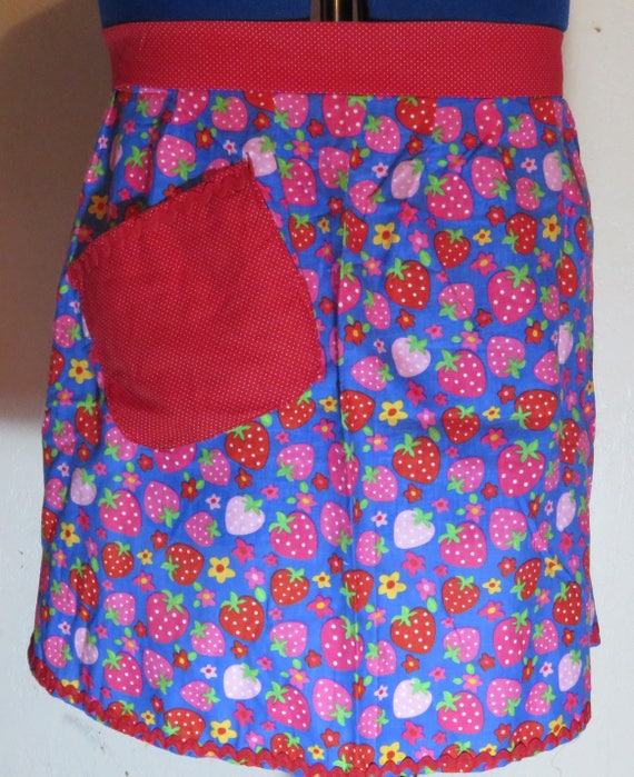 Strawberry with red accent Half Apron