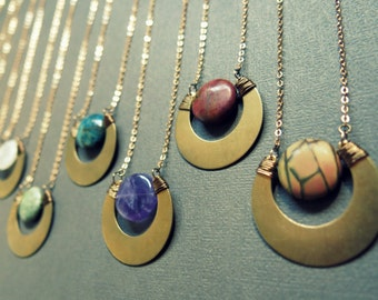 Boho chic necklace Women/'s jewelry Boho necklace Boho necklace long necklace female necklace Modern collage necklace