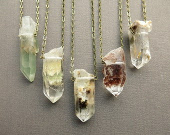 Raw Crystal Necklace - Raw Quartz Necklace - Healing Crystal Necklace - Crystal Pendant - Crystal Jewelry - Boho Jewelry - Boho Necklace