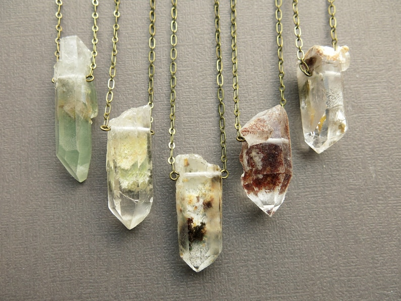 Raw Crystal Necklace  Raw Quartz Necklace  Quartz Crystal image 0