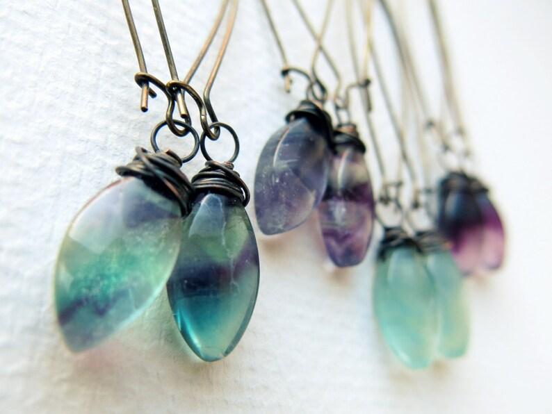 Crystal Dangle Earrings  Boho Crystal Earrings  Gemstone image 0