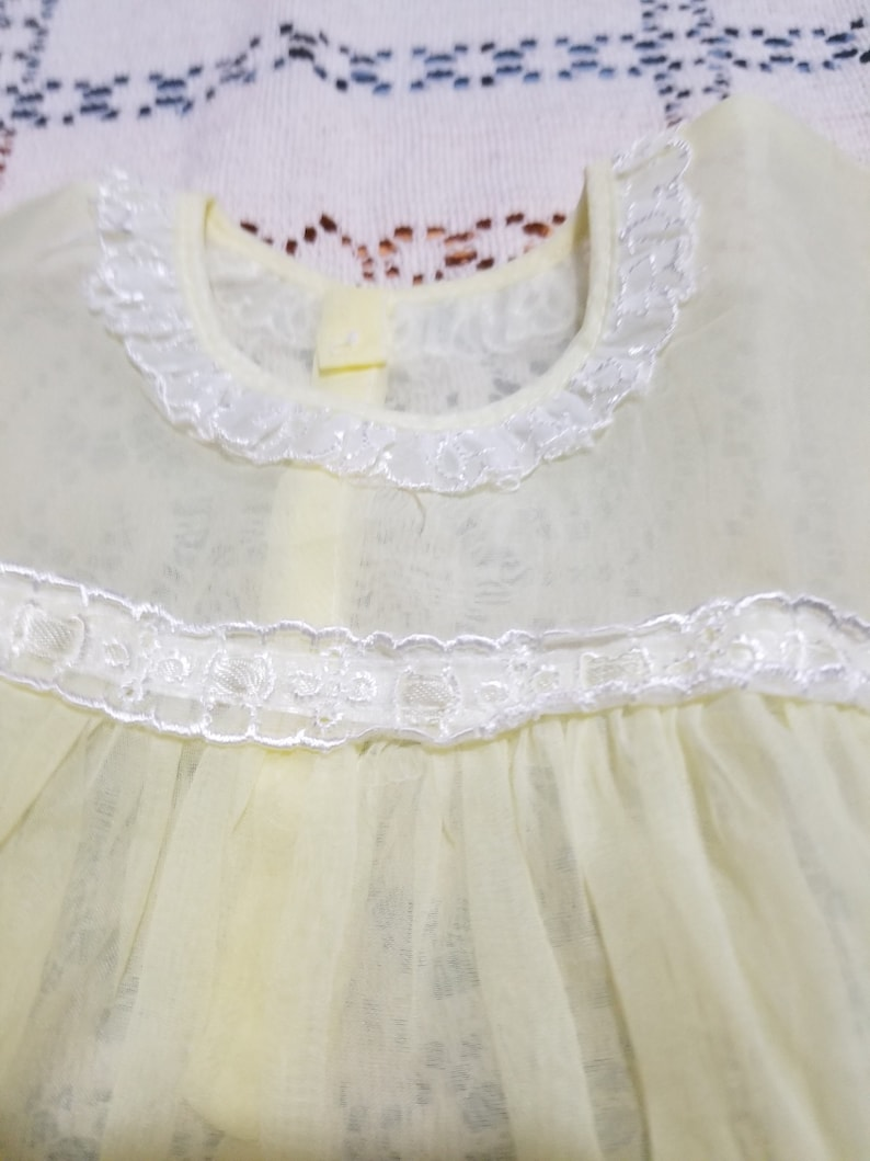 Vintage antique yellow baby dress SALE size 18mo.