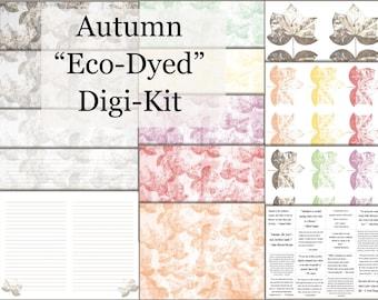 """Autumnal """"Eco-Dying"""" Digi-Kit"""