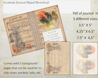 Gratitude Journal: Autumn Harvest Theme