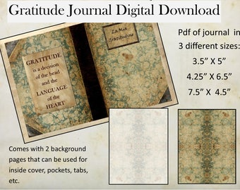 Italian Marbled Gratitude Journal