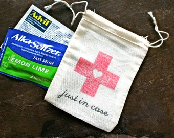 Recovery or Hangover Kit Bags for Wedding, Bachelorette Party - Just in Case favor bags, bachelor party, hotel welcome bags, guest gifts