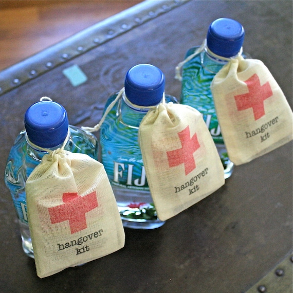 Hangover Kit Wedding Favor Bags Diy First Aid Kit For Etsy
