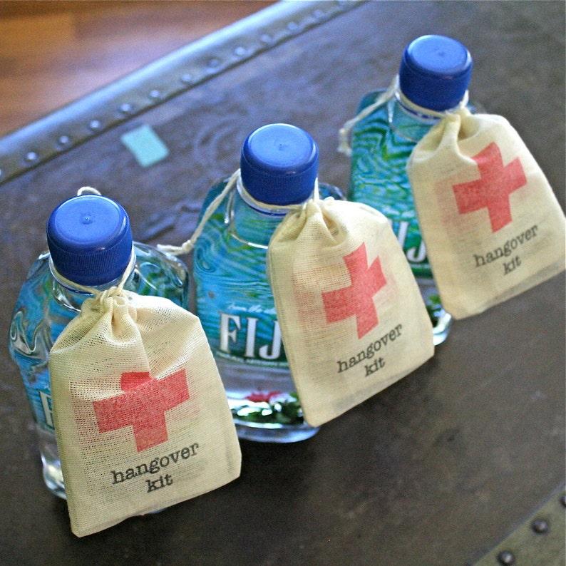2a743ef555f Hangover Kit Wedding Favor Bag DIY first aid kit for wedding | Etsy