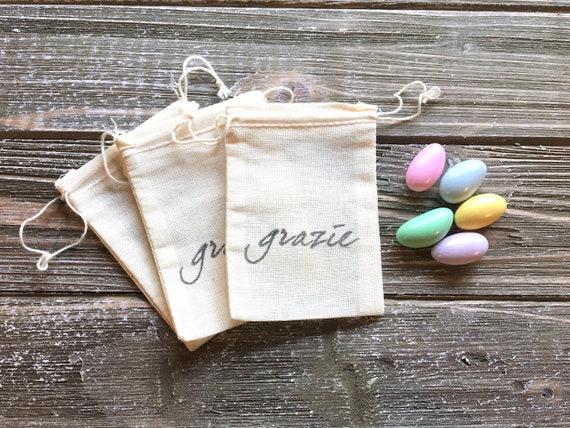 Italian Wedding Favor Bags For Sugared Almonds Jordan Almonds Etsy