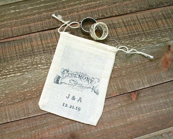 Personalized Cloth Wedding Ring Bag Rustic Ring Bag Ring Etsy