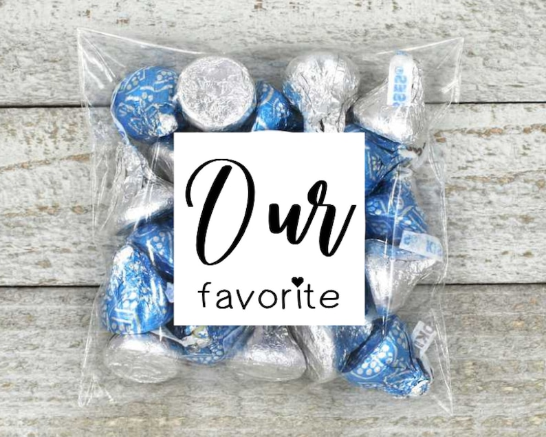 Our Favorite Wedding Favors  20 favor labels with optional image 0