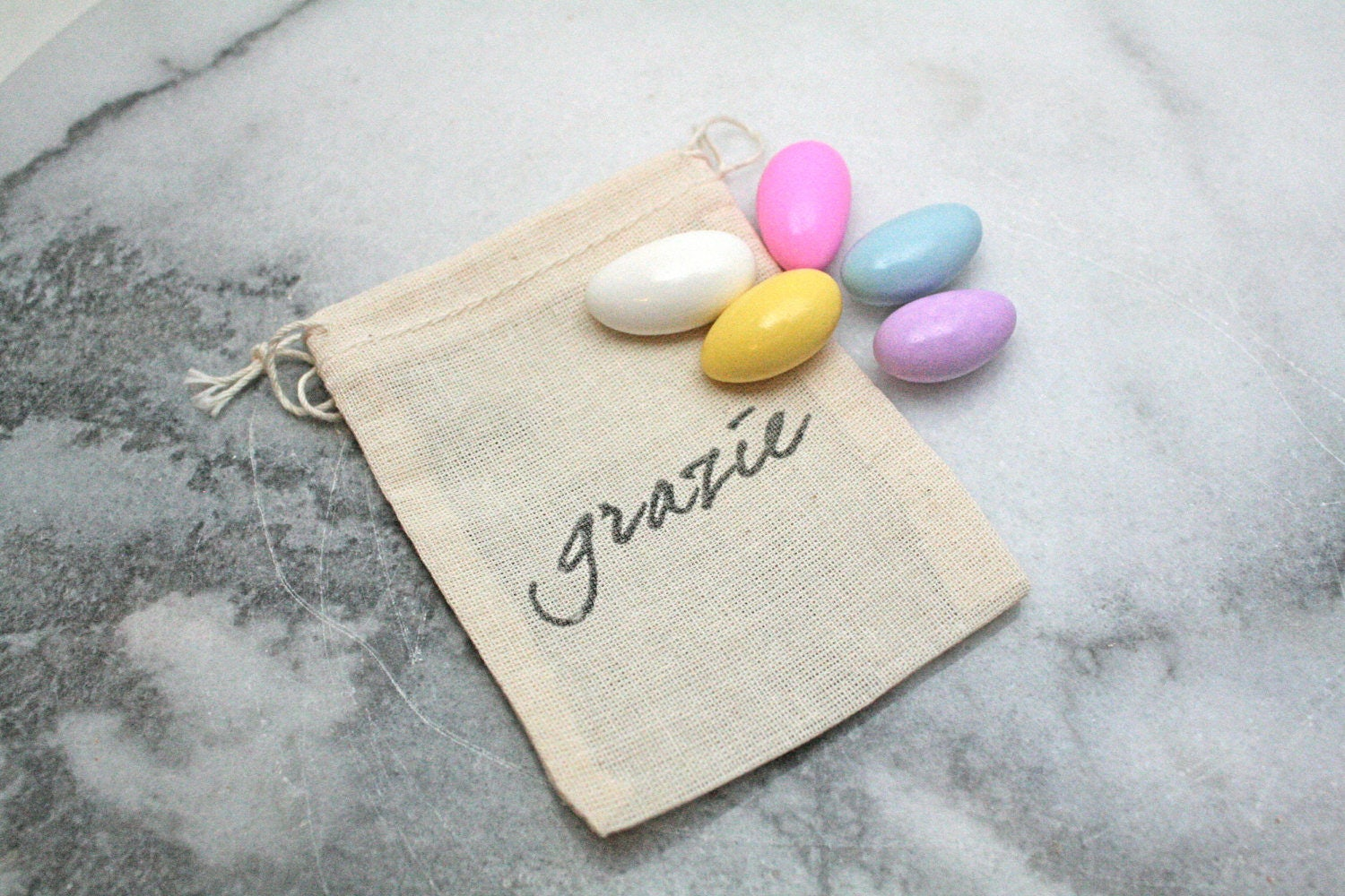 Wedding favor bags set of 50 Italian wedding Grazie sugared