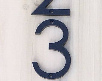 4 inch Modern House Numbers Letters