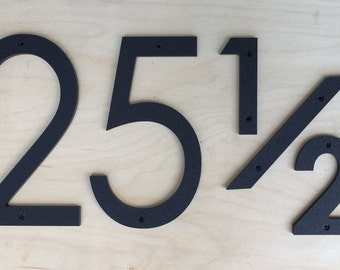 10 inch Modern House Numbers Letters