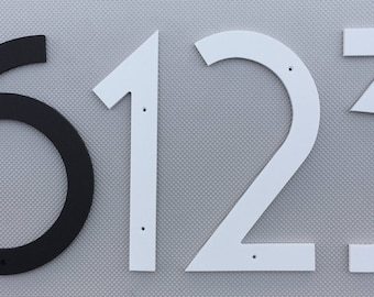 10 inch Art Deco House Numbers Letters