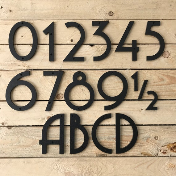 6 inch Art Deco House Numbers Letters