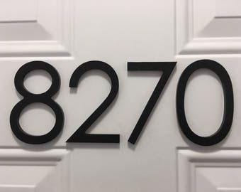 4 inch Magnetic Modern Numbers Letters for doors, houses, mailboxes, address