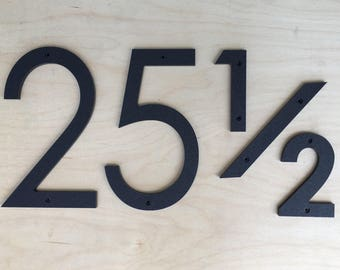18 inch Modern House Numbers Letters