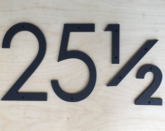 12 inch Modern House Numbers Letters