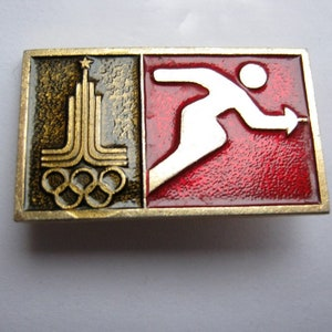 Two old USSR Soviet union sport pin badges