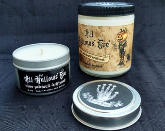 All Hallows' Eve - Clove Patchouli & Driftwood - Hand-poured Soy Candle - Hand of Glory Signature Scent