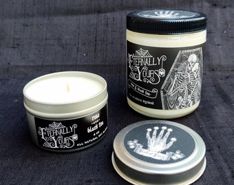 Eternally Yours - Rose & Black Tea - Hand-poured Soy Candle - Hand of Glory Signature Scent
