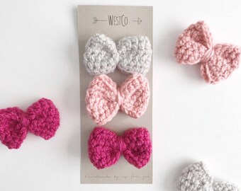 Hair Clips | BOW | set of 3