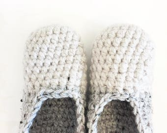 twoTONED | slippers | featured in marble grey + linen toes