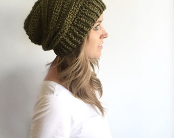 Slouchy Beanie Hat   3 BRAID   featured in JERICHO TREE