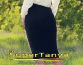 Sexy mohair skirt in black or ivory by SuperTanya
