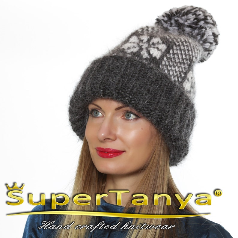 8425fb8722c389 SuperTanya mens thick mohair hat 100% handmade beanie with   Etsy
