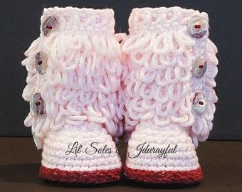 Crochet Baby Shoe, Crochet Baby Booties, Baby Girl Booties, Baby Shoes, Baby Girl Shoes, Pink Baby Shoes, Crochet Pink / Raspberry