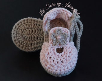 Baby Girl Sandals, Baby Girl Flip Flops, Crochet Baby Sandals, Pink Baby Shoes, Crochet Baby Shoes, Baby Girl Shoes, 0-3 Months, Baby Shoes