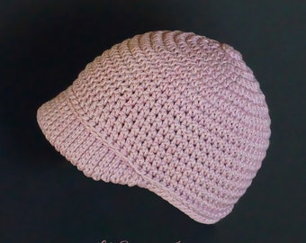 Baby Baseball Hat, Baby Girl Hat, Baby Boy Hat, Baby Beanie, Crochet Baseball Cap, Crochet Baby Hat, Pink Baby Hat,0-3 Months, Baby Cap