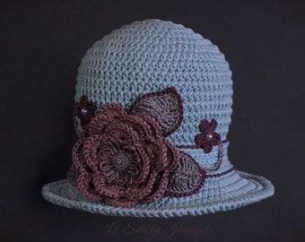 Crochet Baby Hat, Baby Girl Hat, Baby Sun Hat, Baby Shower Gift, Green Baby Hat, Baby Beanie, Baby Cloche Hat,Newborn Baby Hat 0-3 Months