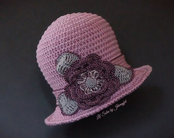 Crochet Baby Hat, Baby Girl Hat, Baby Sun Hat, Baby Shower Gift, Pink Baby Hat, Baby Beanie, Baby Cloche Hat,Newborn Baby Hat 0-3 Months