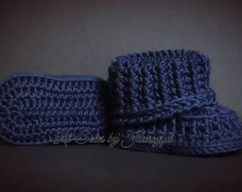Crochet Baby Shoes, Crochet Baby Booties, Baby Boy Shoes, Baby Shoes, Baby Boy Booties, Baby Boy Shower Gift, Blue Baby Shoes, 0-3 Months