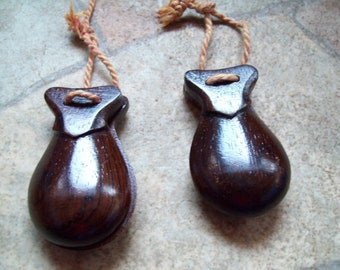 Castanets vintage instrument dance folk precussion wood folk art musical islands tropical Spanish music pair fingers hand instrument