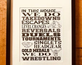 Wrestling Subway Art/ digital print