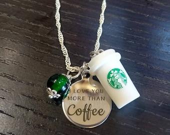 Coffee Lover Gift, Starbucks Coffee, Coffee Cup, Coffee Mug, Coffee Charms, Coffee Necklace, Coffee Addict, Whimsical Coffee Foodie Gift