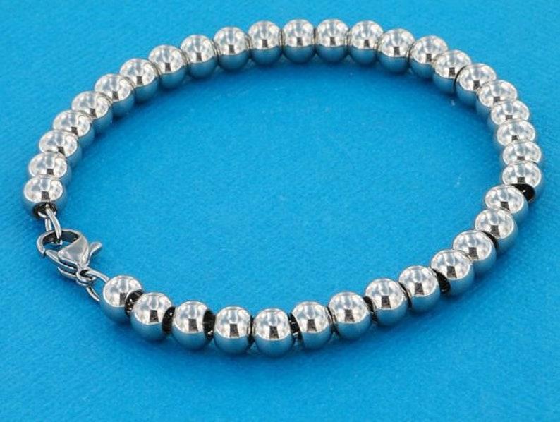 Pink Hearts Stainless Steel 4mm Ball Chain Heart Charms Girls Bracelet Dainty Bracelet Beaded Bracelet Spacer Beads Enameled Heart